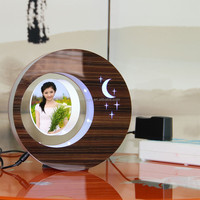 LED suspending in the air magnetic levitation photo frame promotional gift item for doctors
