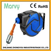 automatic retractable extension 15m retractable wire reel 220v