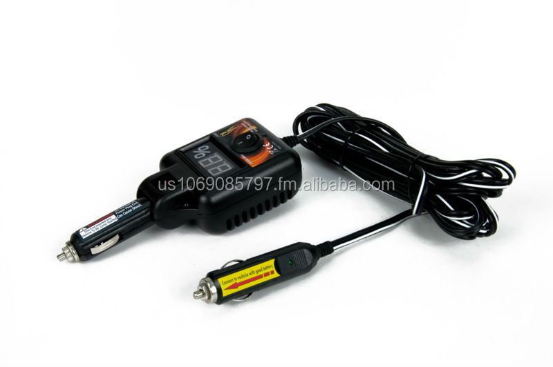 Vehicle Battery Charger/Booster cigarette lighter to cigarette lighter jumper, Recharge your weak battery in minutes