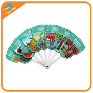 Promotional custom printed foldable folding hand fan