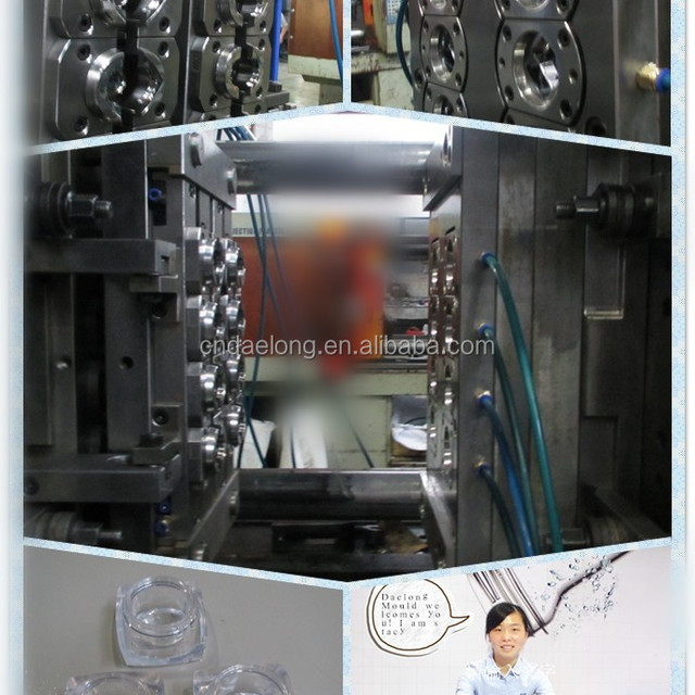 8 cavity Ointment box / Cosmetics box plastic injection mould
