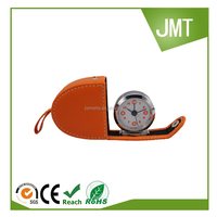 novelty foldable leather travel alarm clock