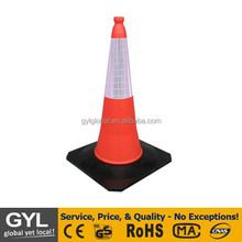 PVC Type Out Door Traffic Cones, black base traffic cone