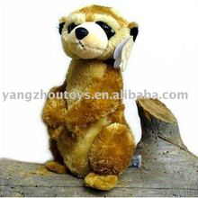 customized soft plush light brown animal meerkat toy stuffed animal toys