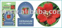 Car Home Paper Hanging Air Freshener Geranium Flower Air Freshener
