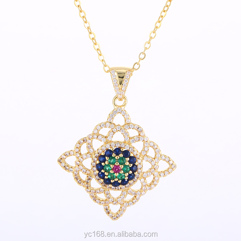 gold mangalsutra micro pave pendant designs latest design saudi gold jewelry necklace