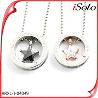 custom made metal logo charms star couple pendant for lover