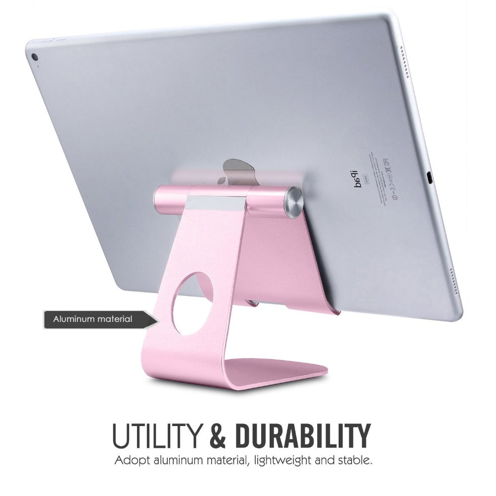 Newest design tablet stand holder aluminium for ipad stand on desk, ipad holder
