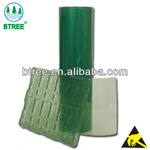 Btree Anti-static/Conductive Roll Plastic Sheet For Vaccum Forming