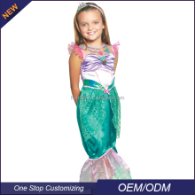 OEM/ODM In-Store Cartoon Crystal Ariel Princess Fancy Dresses For Girls