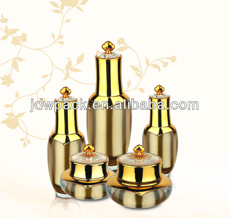 2013 new type crown shaped cosmetic containers, lotion bottle and cream jar