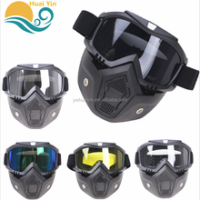 Hot selling PC Lens Outdoor Cycling Windproof Anti-shock Bicycle Face Mask Motorcycle Helmet