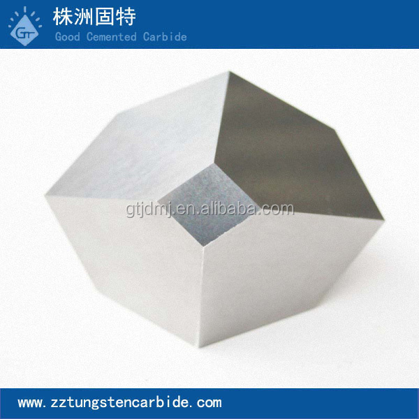 Multiple-facet tungsten carbide / steel anvils