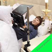 Desk clamp type portable laptop stand holder for bed, desk, office