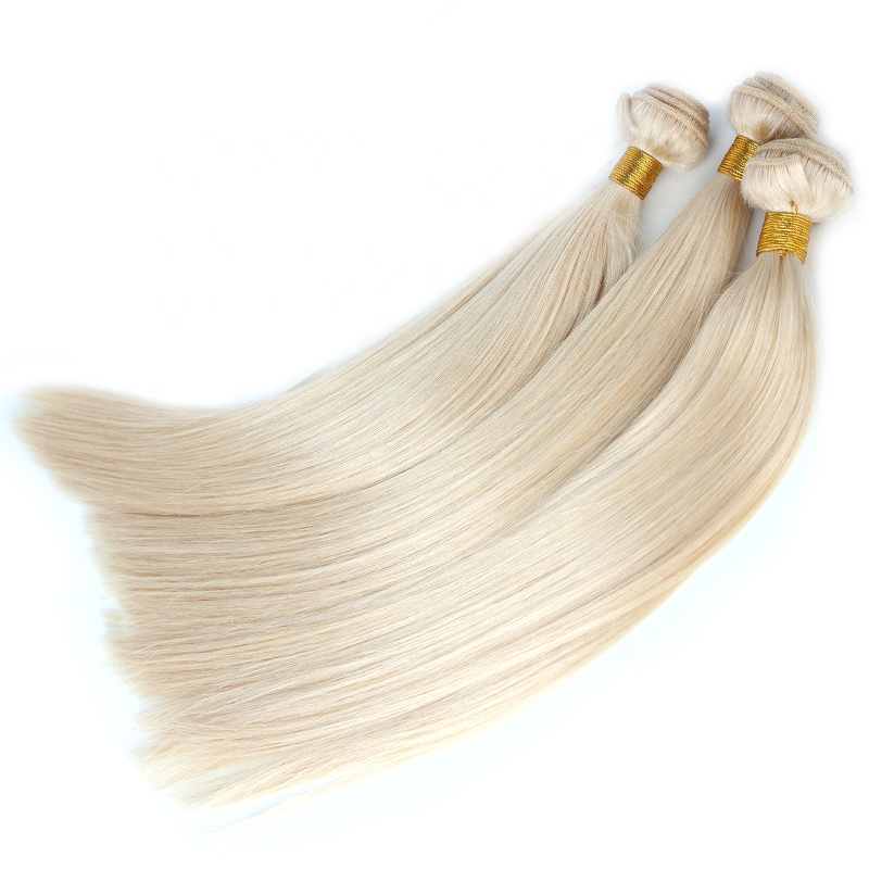 Wholesale Blonde Hair Bundles Cuticle Aligned Virgin 100% Human Hair Straight Body Wave Deep Wave
