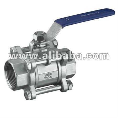 Stainless Steel 3 Pcs Thread Ball Valve