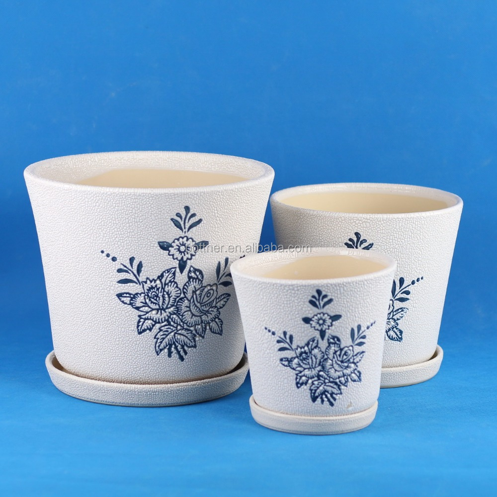 blue and white porcelain flower pot 211P-KD
