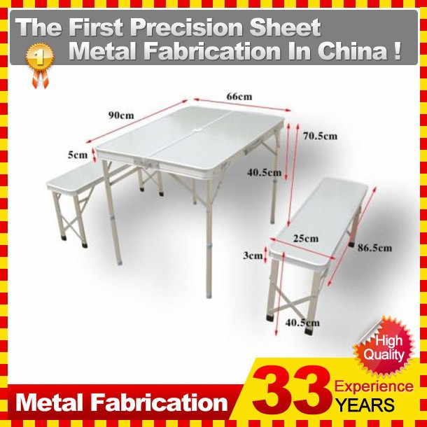 Aluminum Folding Portable Picnic Camping Set Table and Chairs