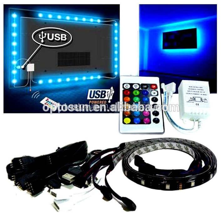Color Changing Flexible LED TV Strip Light TV Backlight for Flat Screen TV LCD, Desktop Monitors, Home Decoration