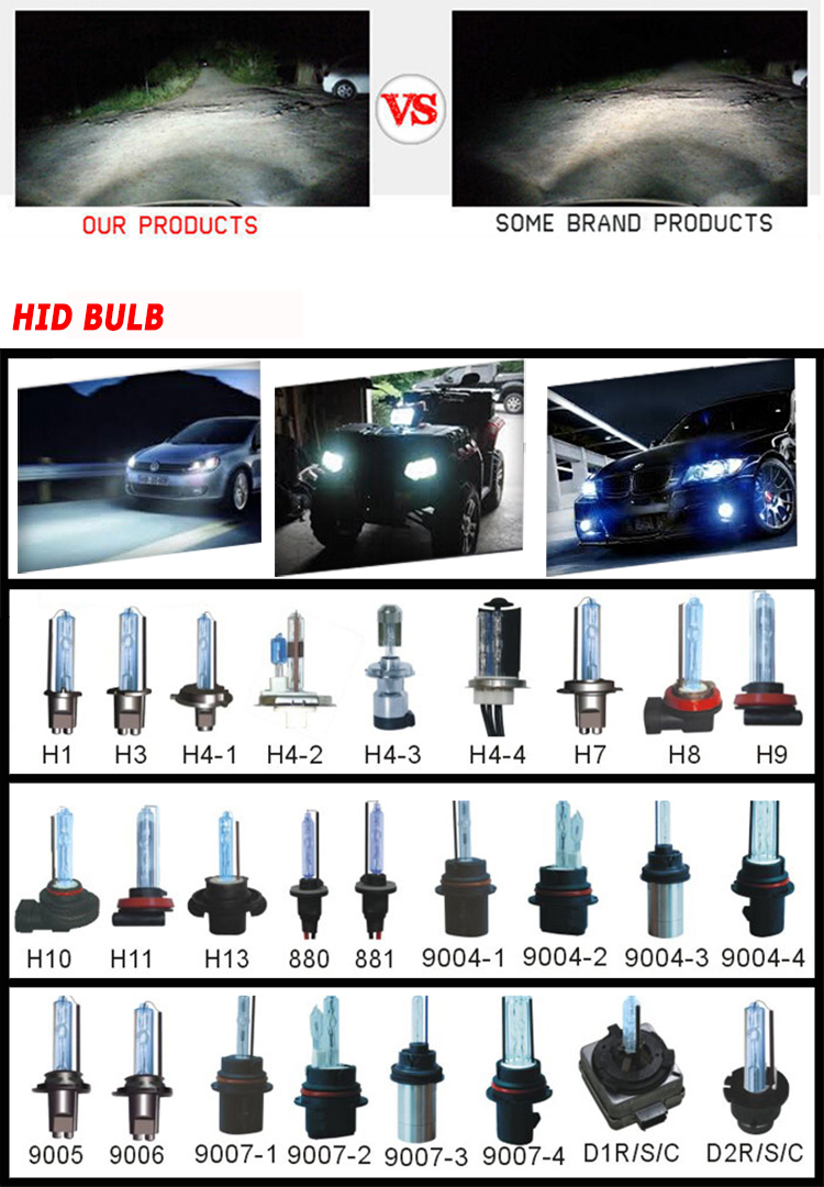 Motorcycle Accessories Super Bright 4300K 5000K 6000K 8000K 10000K H6 Xenon Bulb Kit For Motorcycle