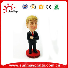 Wholesale custom cheap polyresin Trump Bobble head for sale