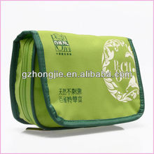 foldable reusable travel cosmetic bag toiletry case with compartments private label makeup bags