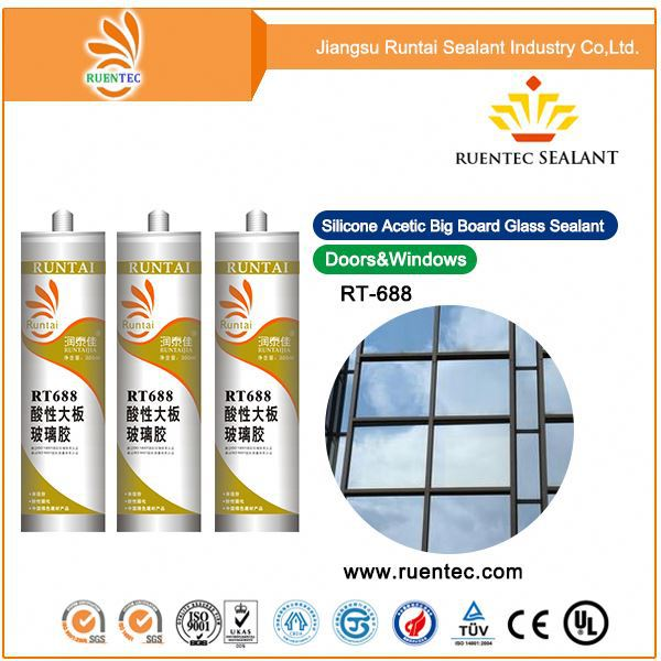 Best quality one component acetoxy silicone sealant for big plate glass