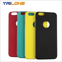 TPU+leather on back case for iphone 6 mobile phone