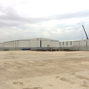 Large span factory building two story steel structure warehouse