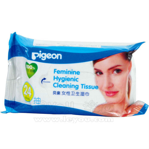 24pcs hygiene feminine cleaning tissue wet ones wipe tissue