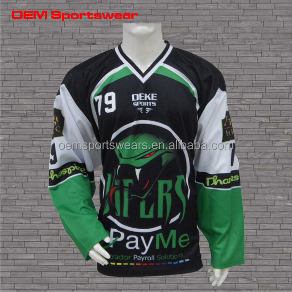 2016 Latest dye sublimation jerseys hockey practice jersey custom hockey jersey