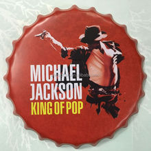 Michael Jackson tin sign bottle cap design beer cap Embossed Metal bar poster metal craft for home bar restaurant coffe shop