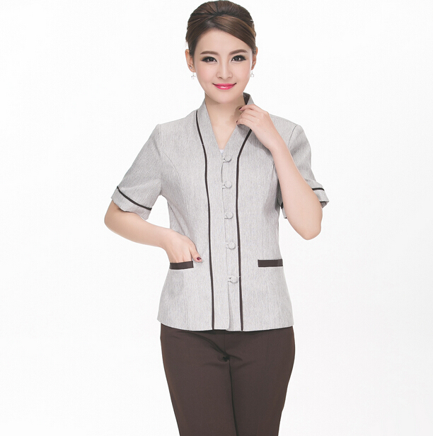best price custom fashionable perfect fit hotel housekeeping uniforms wholesale