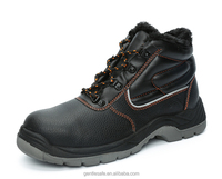 GT8790 Hot selling genuine leather steel toe fur lining safety shoes