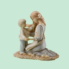 Promotional Newest Beach Figurine Mother and Son