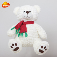 Soft organic christmas white teddy bear plush toys