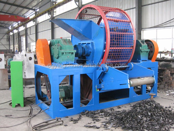 Lowest price tire recycling equipment crumb rubber making for Tractor tire recycling