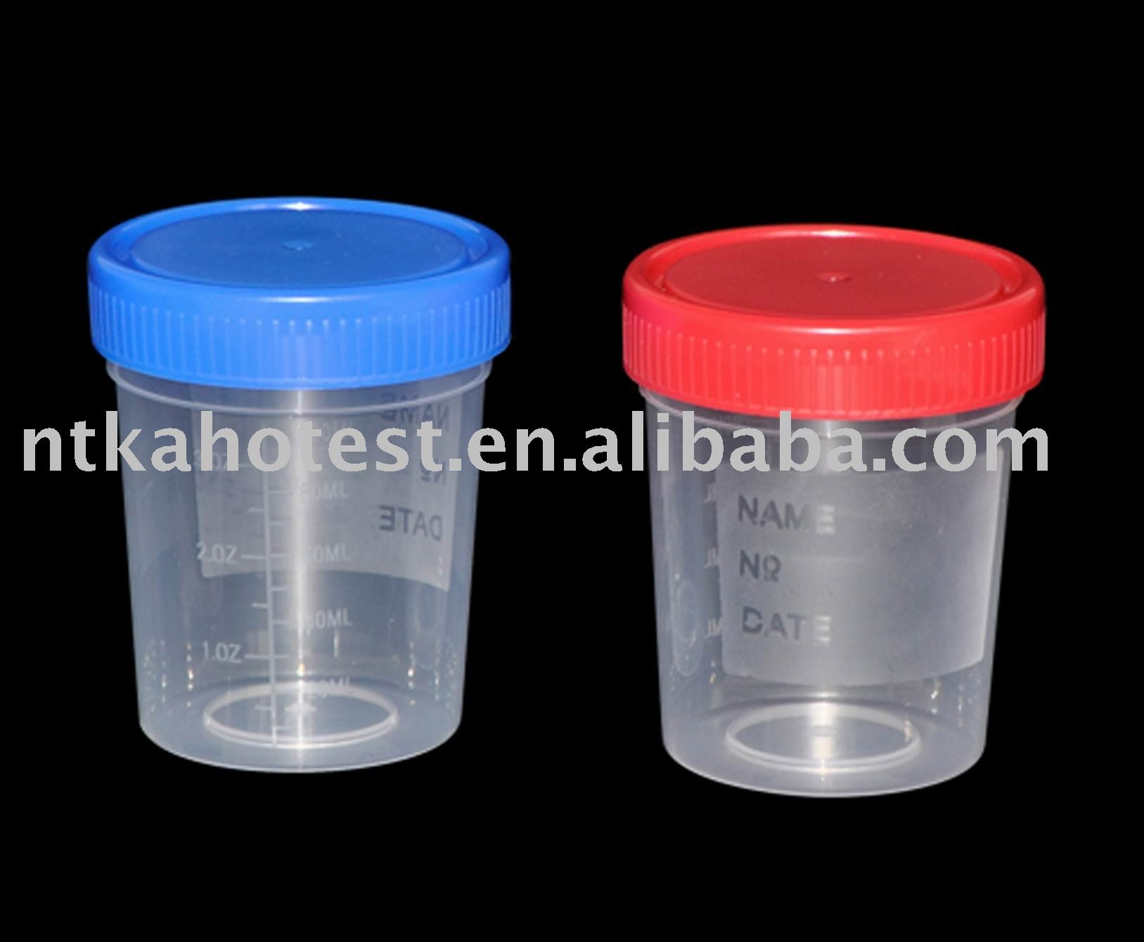 China manufacturer urine cup disposable plastic 120ml container