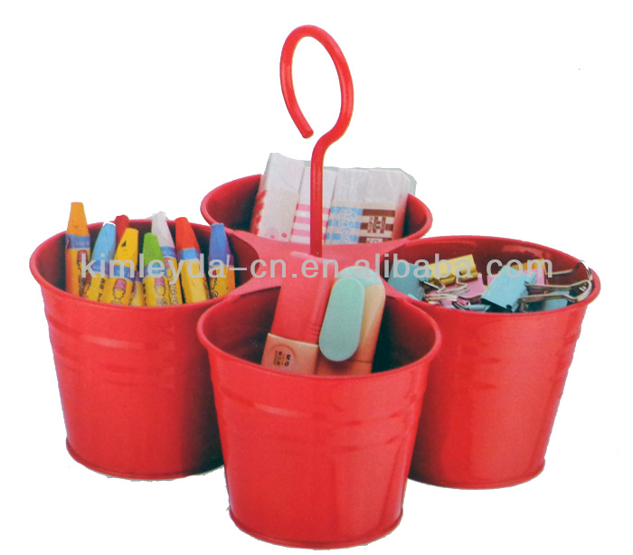 Set 4pcs of bucket pen holder container for pen