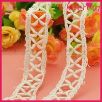 wholesale keering supply white cheap crochet cotton lace trim WLC-154