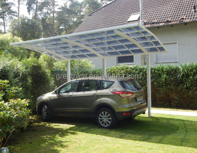 Arched Roof Cantilever carport