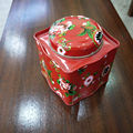CMYK printing custom exquisite flower tin box