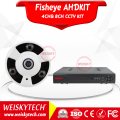 Weisky 2017 H.264 High Resolution Analog Ahd 4ch Camera Security With 1.38/1.55/1.75mm Fixed Lens