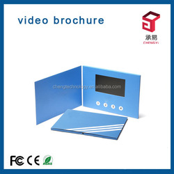 factory direct supply electronic business wedding video card holder e-paper display