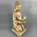 Wooden looking resin home ornaments buddha table art decor