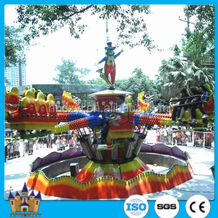 China amusement rides adult rotary bounce ride LED decorated jumping machine