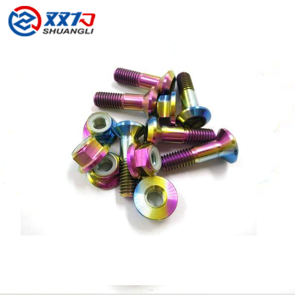 Customized titanium screw bolts