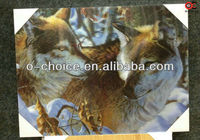 BD-21 African 3d Wolf Animal Picture Oil Painting
