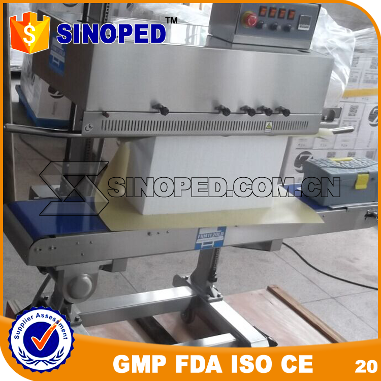 New Design Plastic Film Continuous Heat Band Sealer with Date Coding