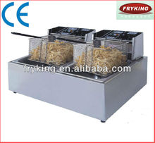 High quality induction double fryer machine